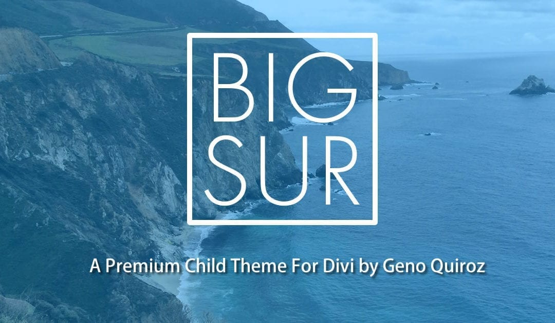 Big Sur Child Theme for Divi